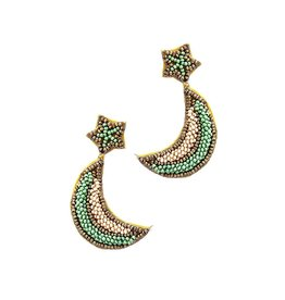 Joia Accessories CRESCENT Seed Bead Earrings