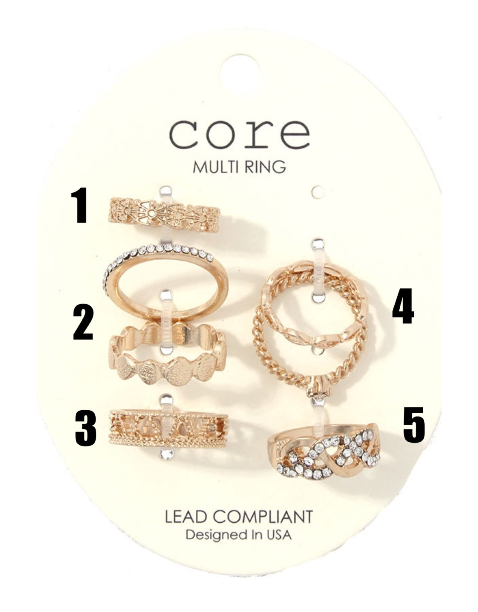 Joia Accessories CORE Gold Rings