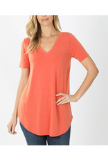 Zenana Premium JADE Ash Copper V-neck