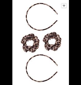 Funteze Accessories KATY Thin Leopard Headband