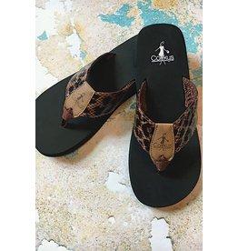 Corky's Footwear LEO Leopard Padded Flip Flops