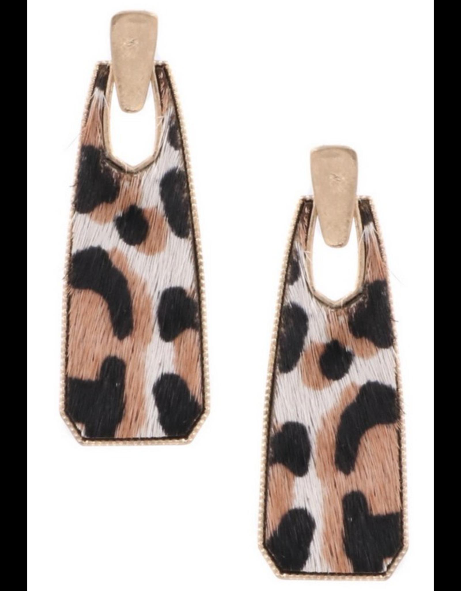 Art Box WHITE Leopard Drop Earrings
