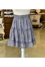 The Ritzy Gypsy FAYE Private Label Blue Leopard Skirt