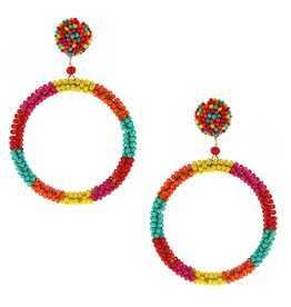 wildflower RAINE Seed Bead Hoop Earings