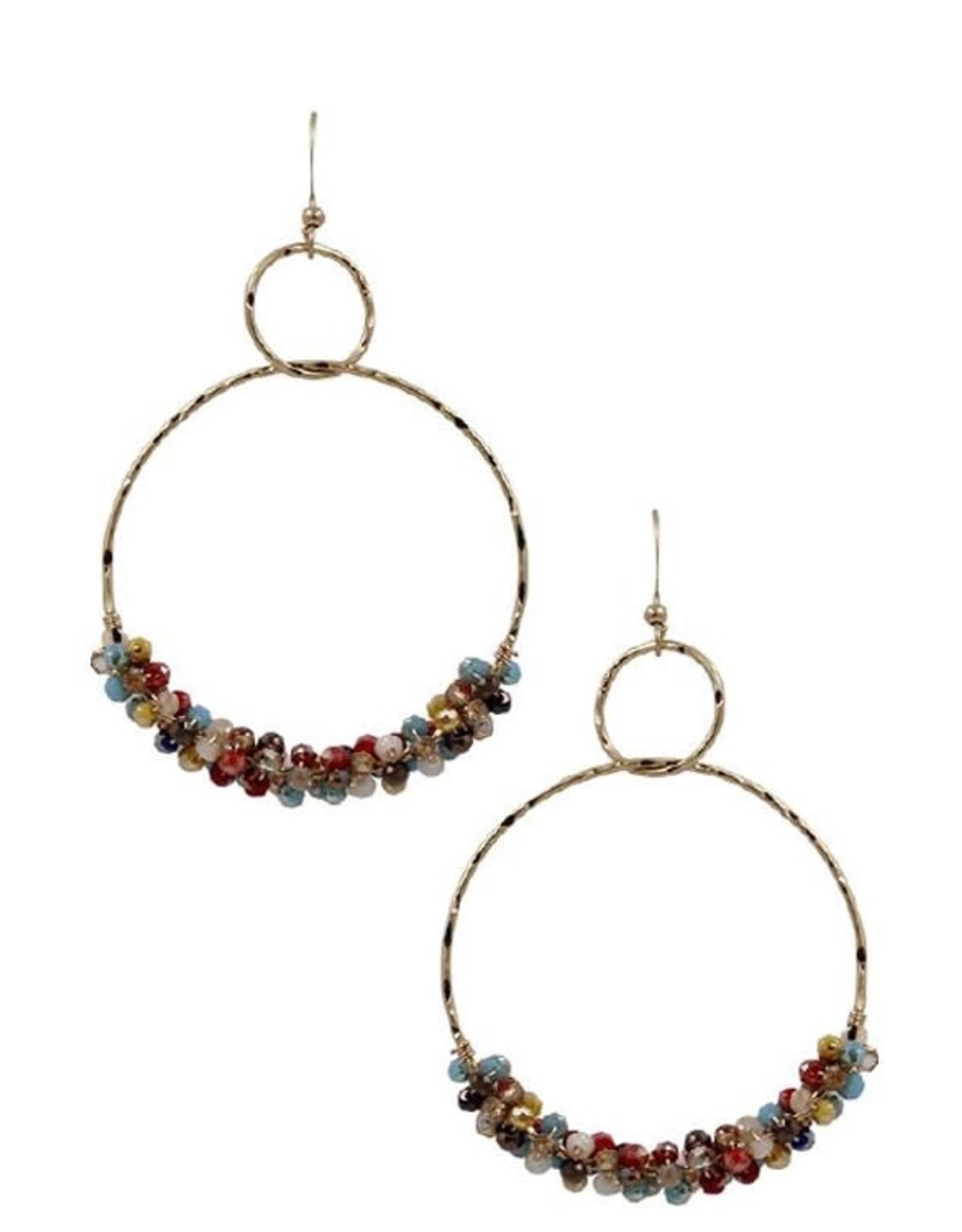 KNC Wholesale MADDI Beaded hoops