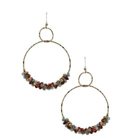 KNC Wholesale MADDI Beaded hoops