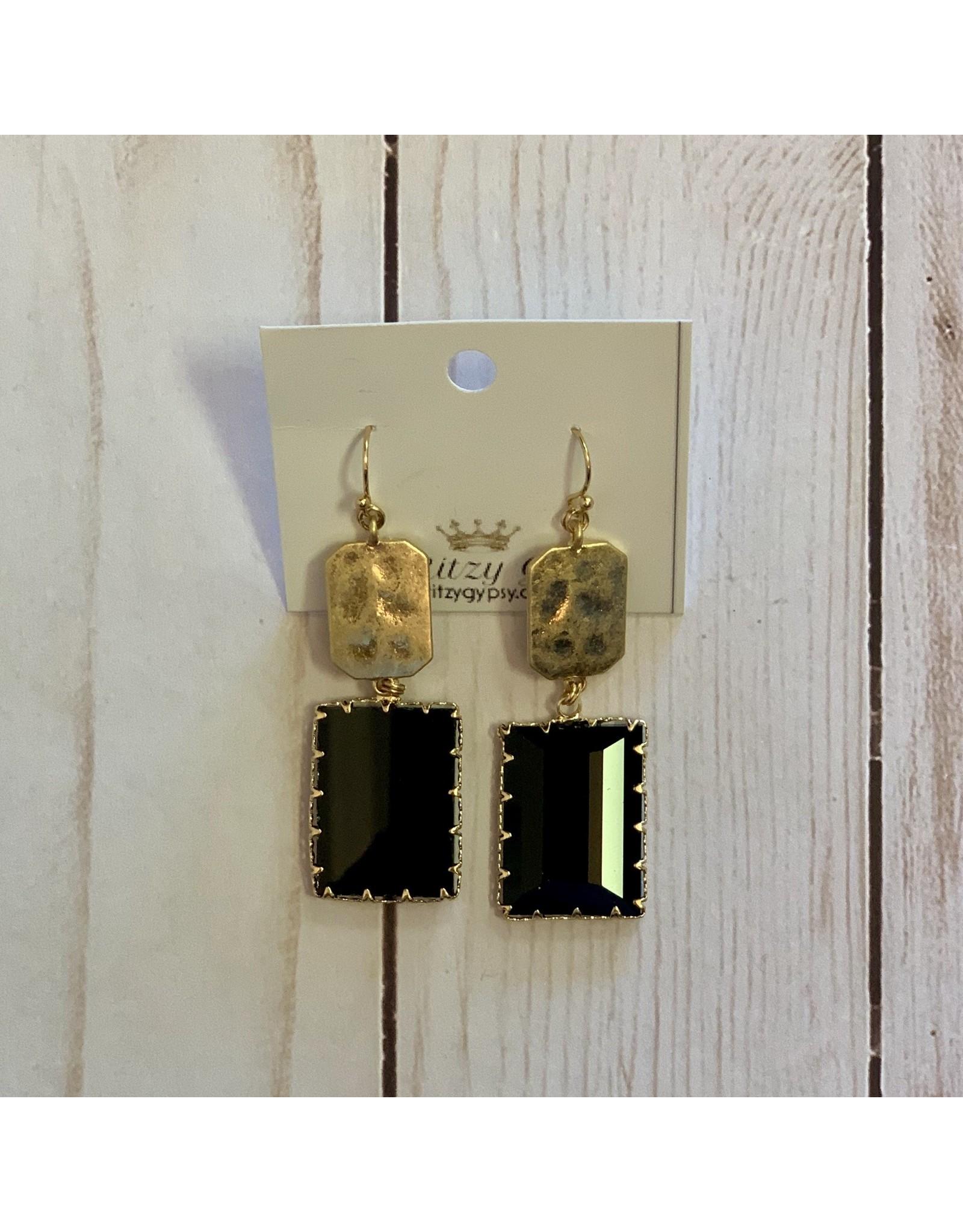 KNC Wholesale MARIE Black Jewel Earrings
