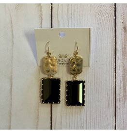 KNC Wholesale MARIE Black Jewel Earrings