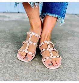 CCOCCI JOANIE Nude Studded Sandal