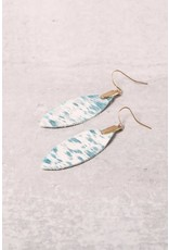 DOLLY Leaf Leather Earrings