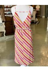 She+Sky MANDY V-Neck Stripe Dress