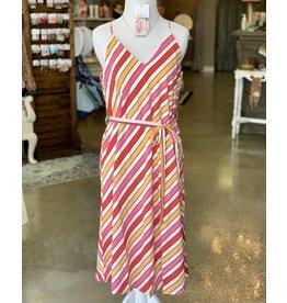 The Ritzy Gypsy MANDY Striped Front Tie Dress