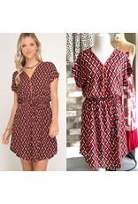 She+Sky REMI Geometric Print Dress