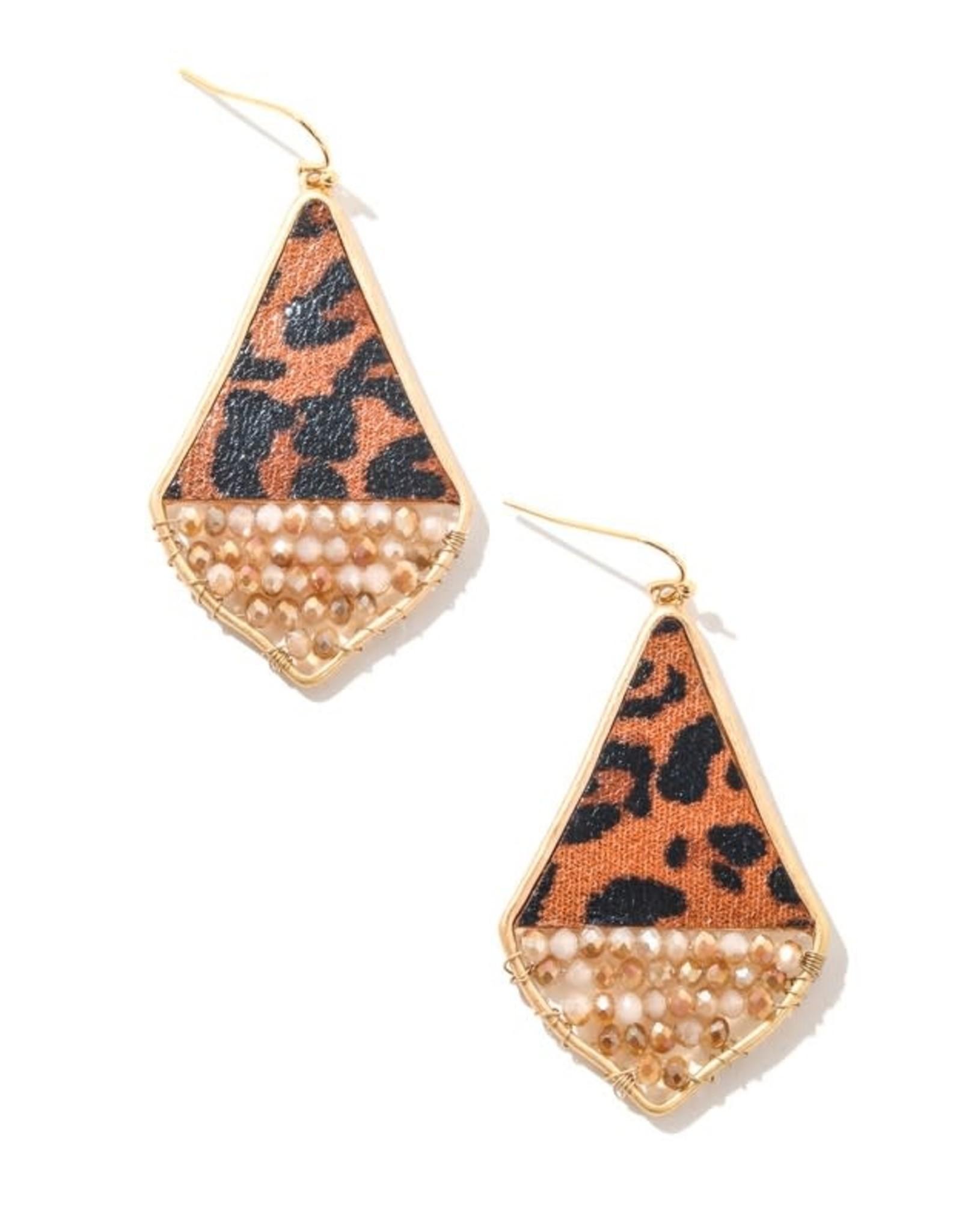 Anarchy Street SARA Leopard Beaded Earrings