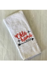 The Ritzy Gypsy ORANGE OKLAHOMA Kitchen Towel