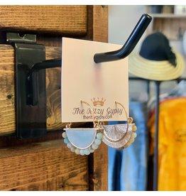 KNC Wholesale RIVER Blue Tone Earrings