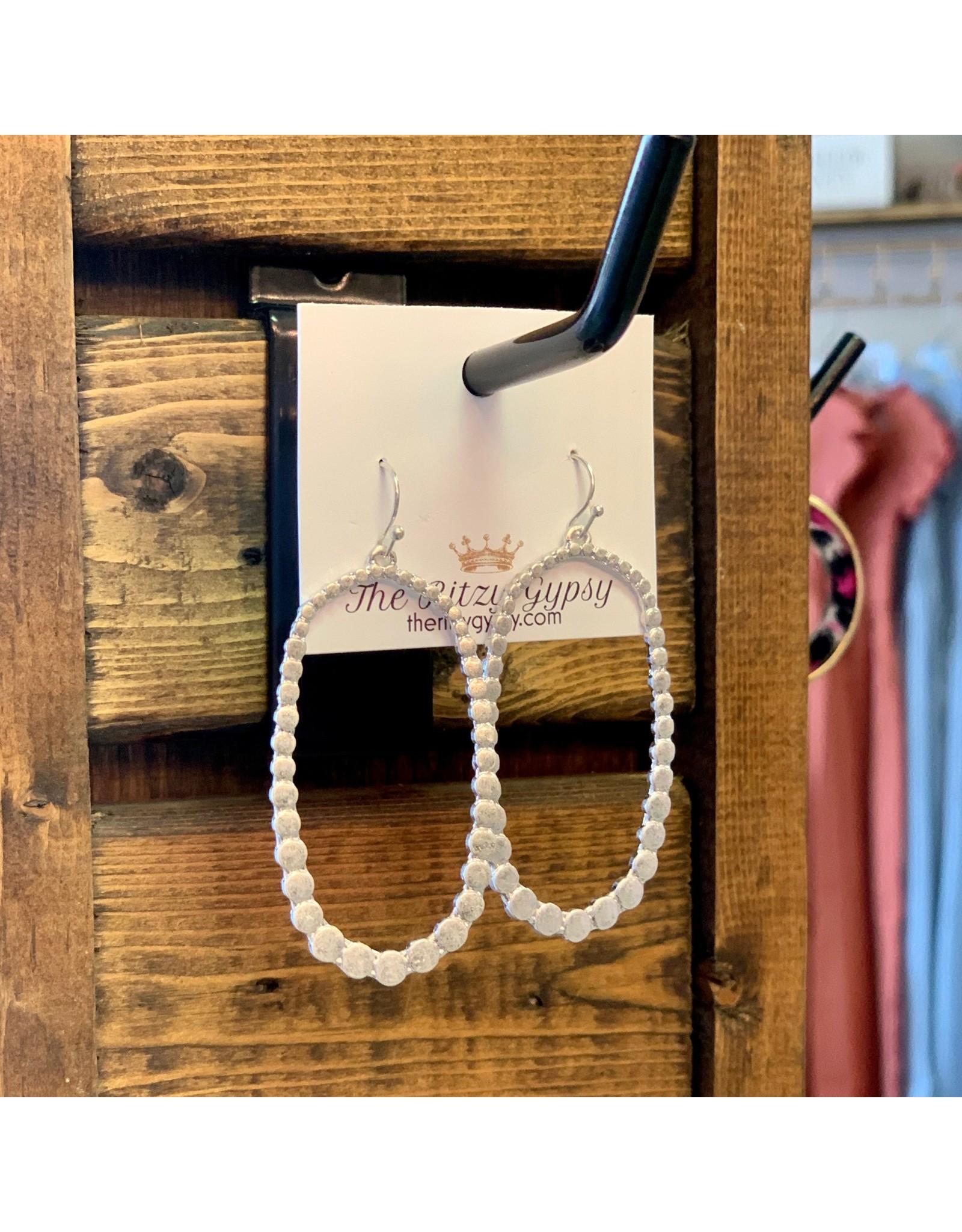 KNC Wholesale Taylor Silver Oval Earrings