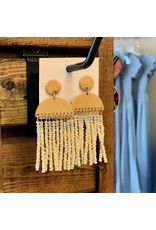 KNC Wholesale LOLA Cream Tassel Earrings