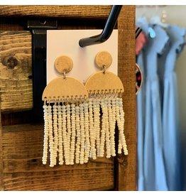 KNC Wholesale LOLA Cream Tassel Earrings