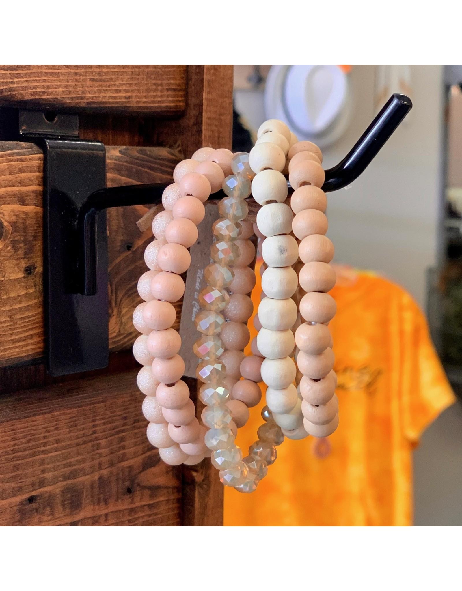 KNC Wholesale Wooden Bracelet Set