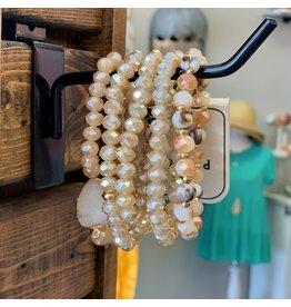 KNC Wholesale PARTY Blush Crystal Bracelet Set