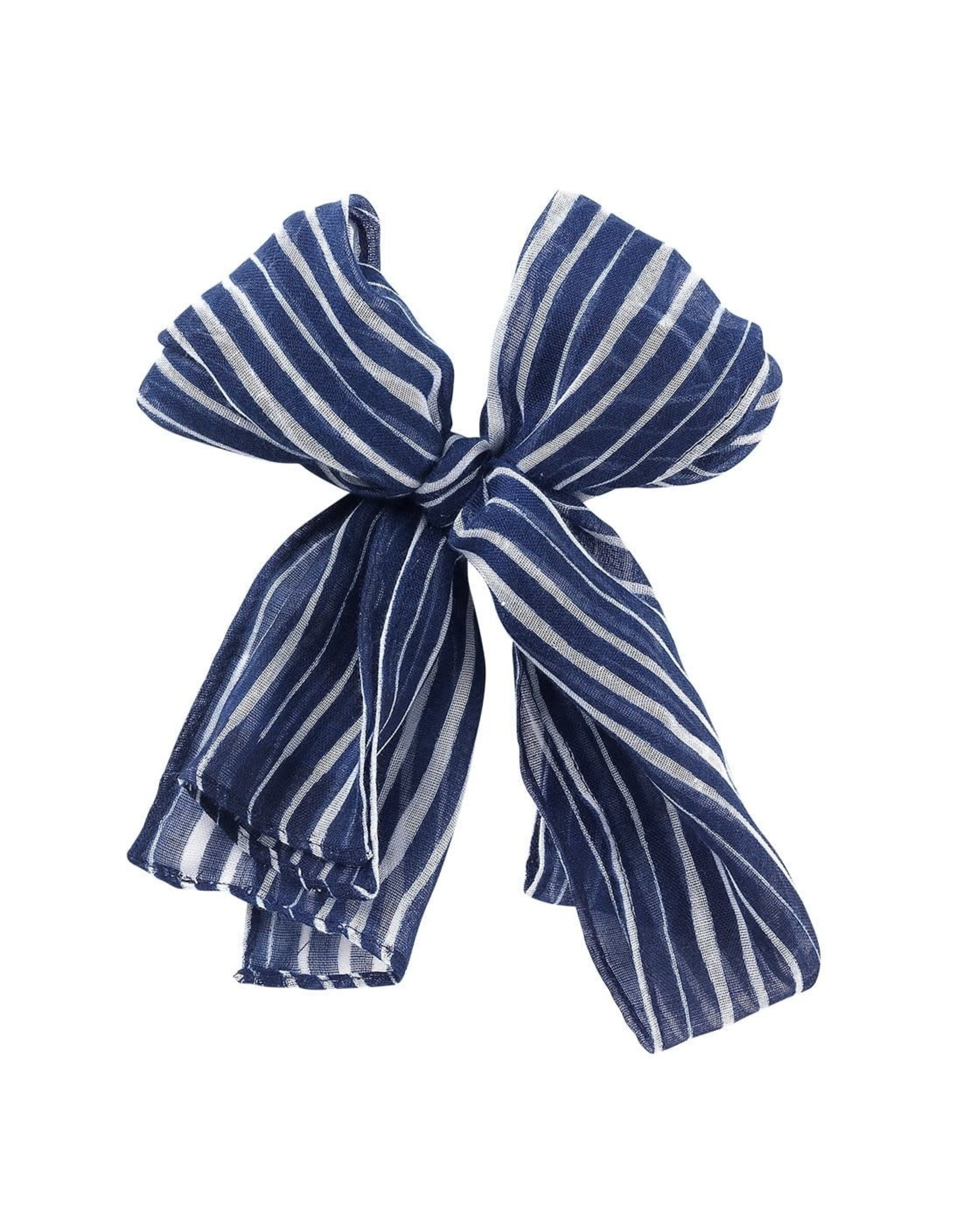 Viv & Lou TIDE Navy & White Stripe Scarf