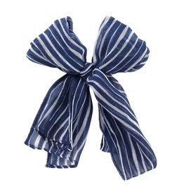 Viv & Lou TIDE Navy & White Stripe Scarf