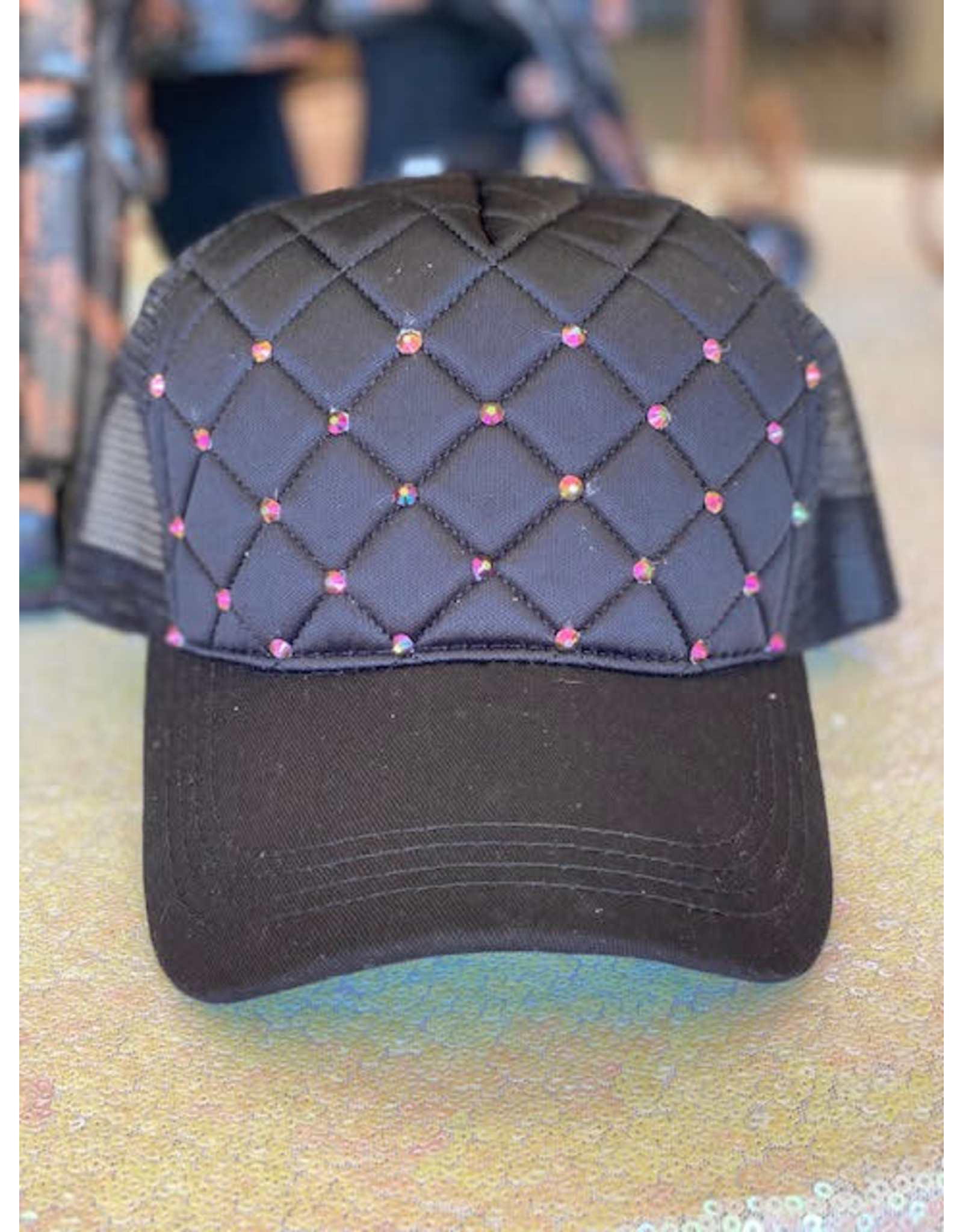 The Ritzy Gypsy Quilted Crystal Hat