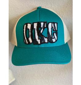 The Ritzy Gypsy OKC Zebra Trucker Hat
