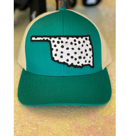 The Ritzy Gypsy Okie Trucker Hat Turquoise White Cheetah