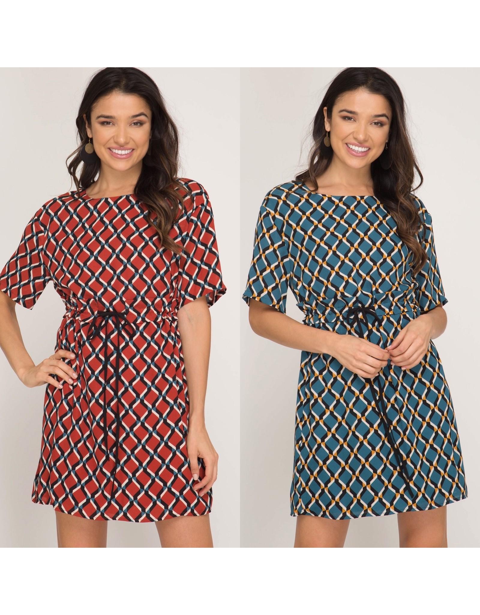 She+Sky ADRIANNA Geometric Dress