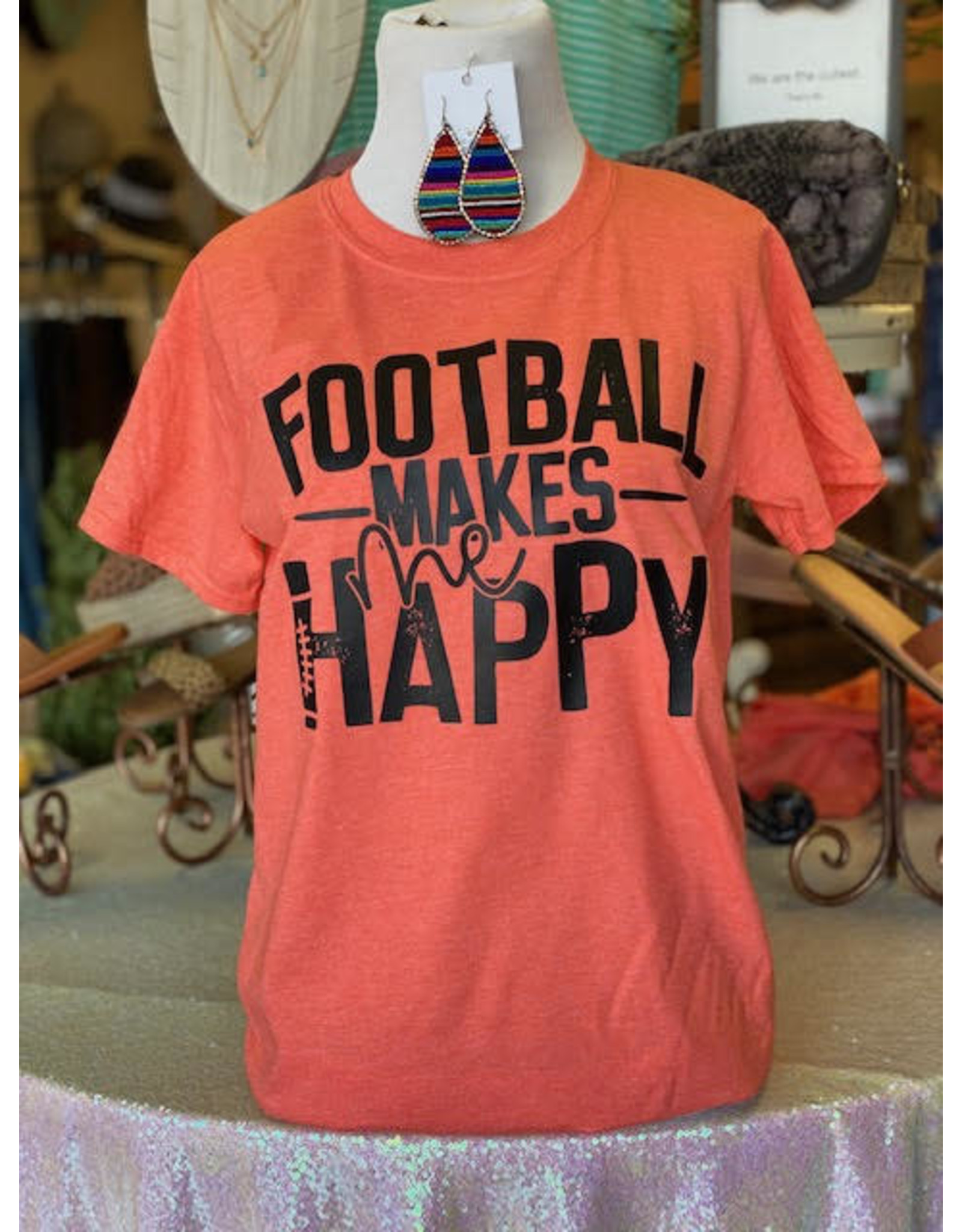 TSC Apparel HAPPY FOOTBALL Graphic Tee