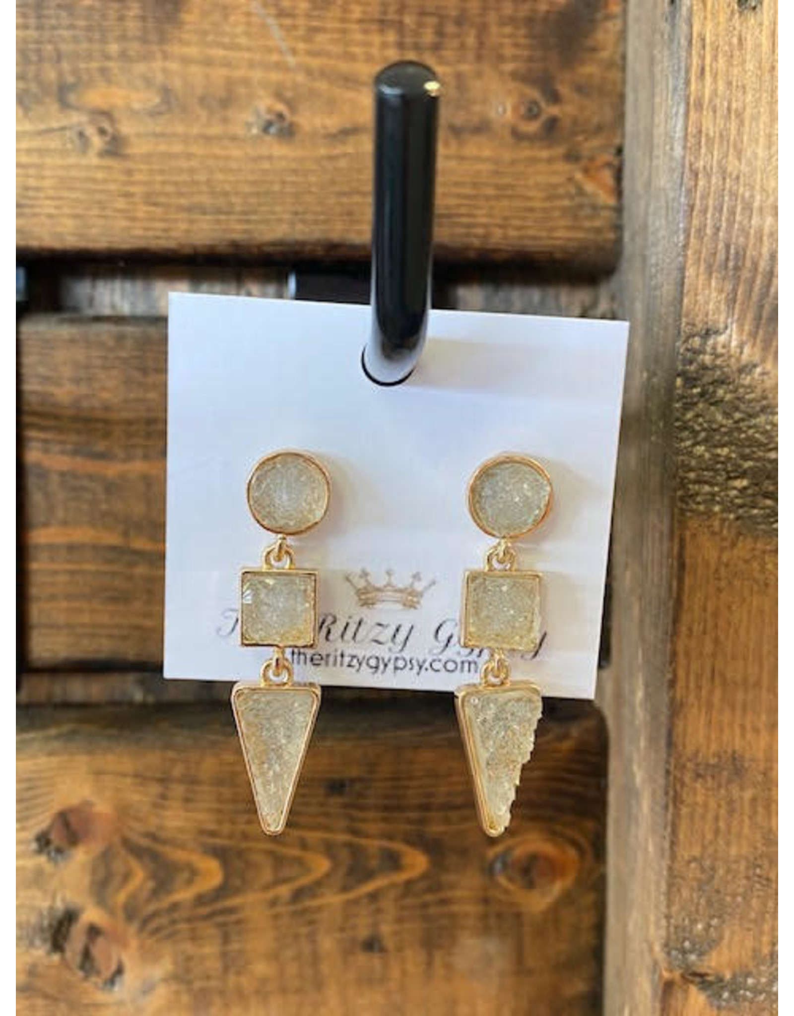 SHAPES Crystal Rock Earrings