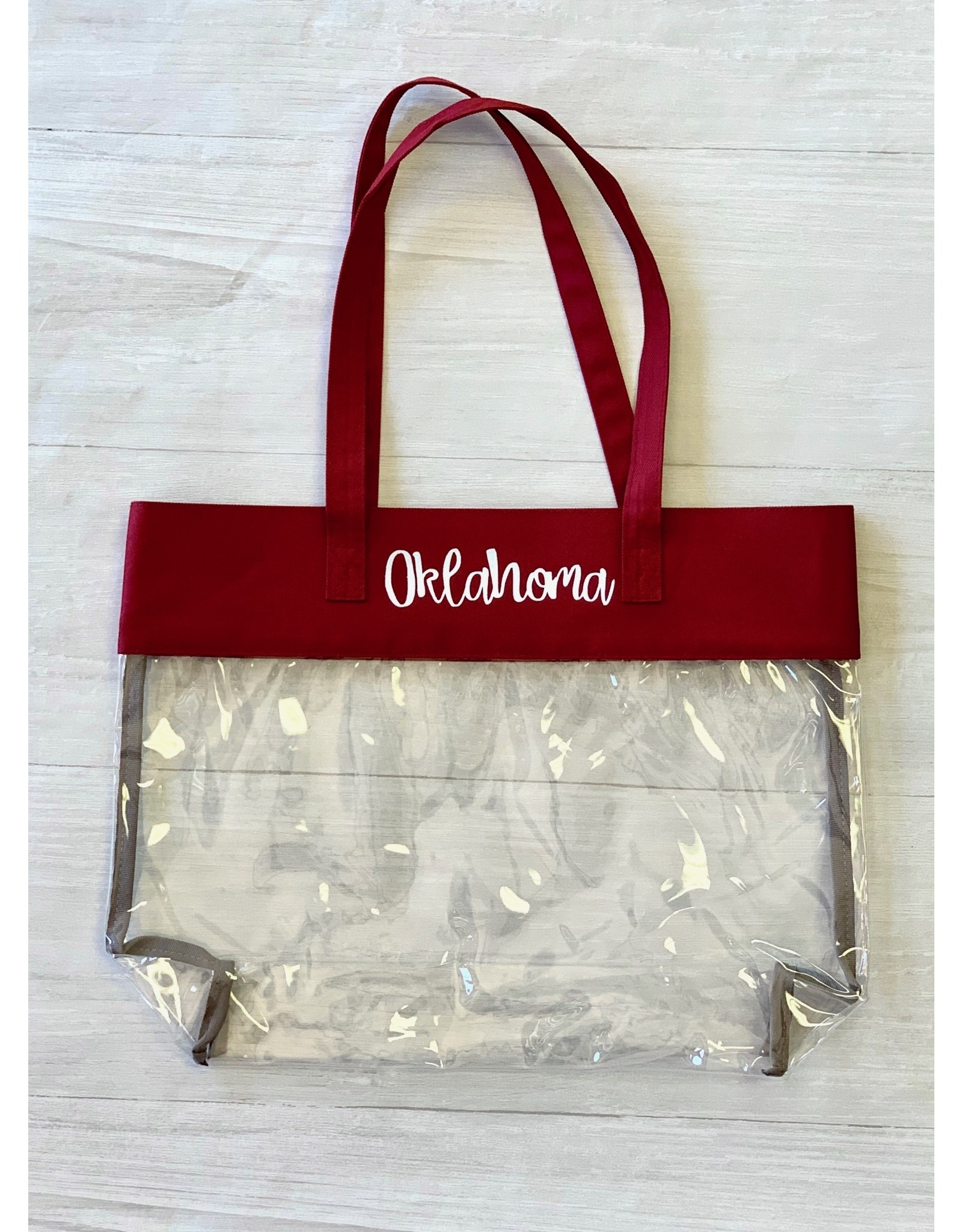The Ritzy Gypsy Clear Oklahoma Game Day Bag