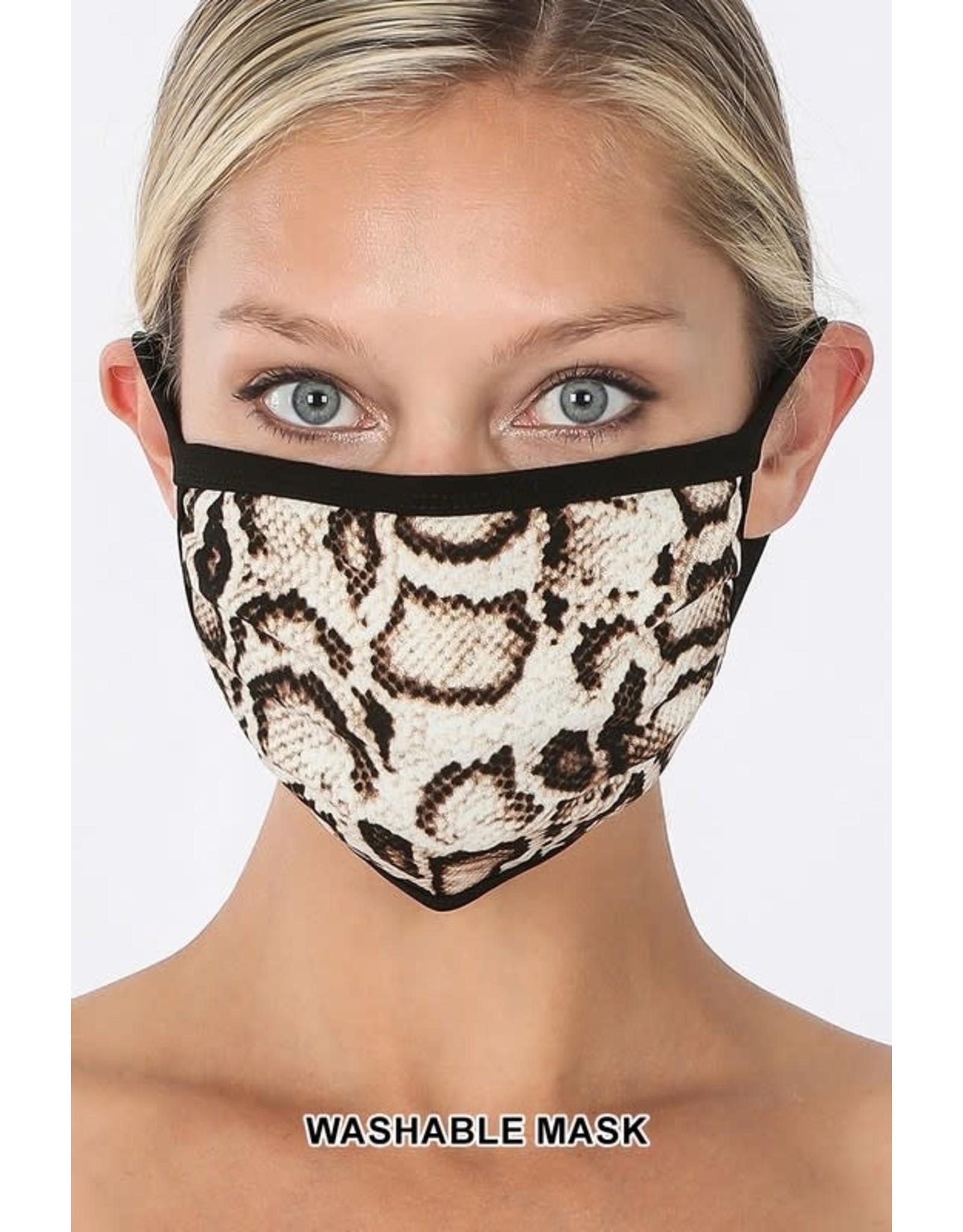 Zenana Premium Snakeskin Mask