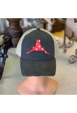 The Ritzy Gypsy Red Dot Horns Down Trucker Hat