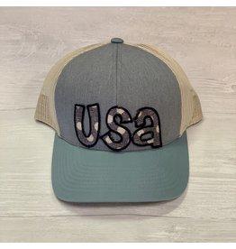 TSC Apparel USA Navy/White Polka Dot Trucker Hat