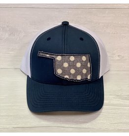 The Ritzy Gypsy OKIE Trucker Hat Blue Polka Dots