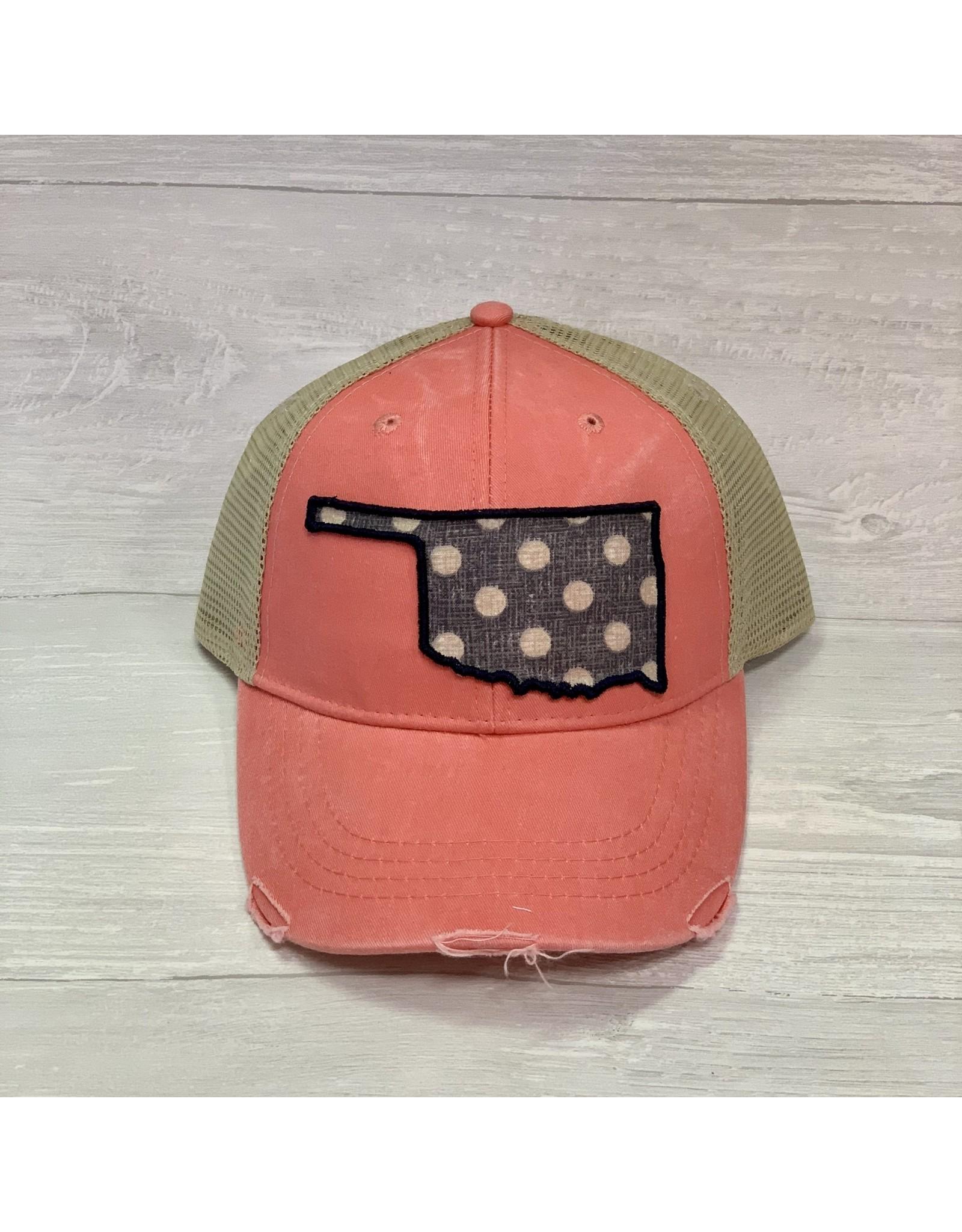 The Ritzy Gypsy OKIE Trucker Hat Pink Polka Dots