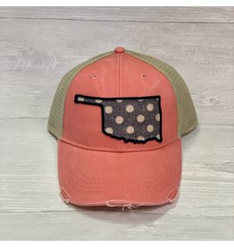 The Ritzy Gypsy OKIE Trucker Hat Pink Polka Dots