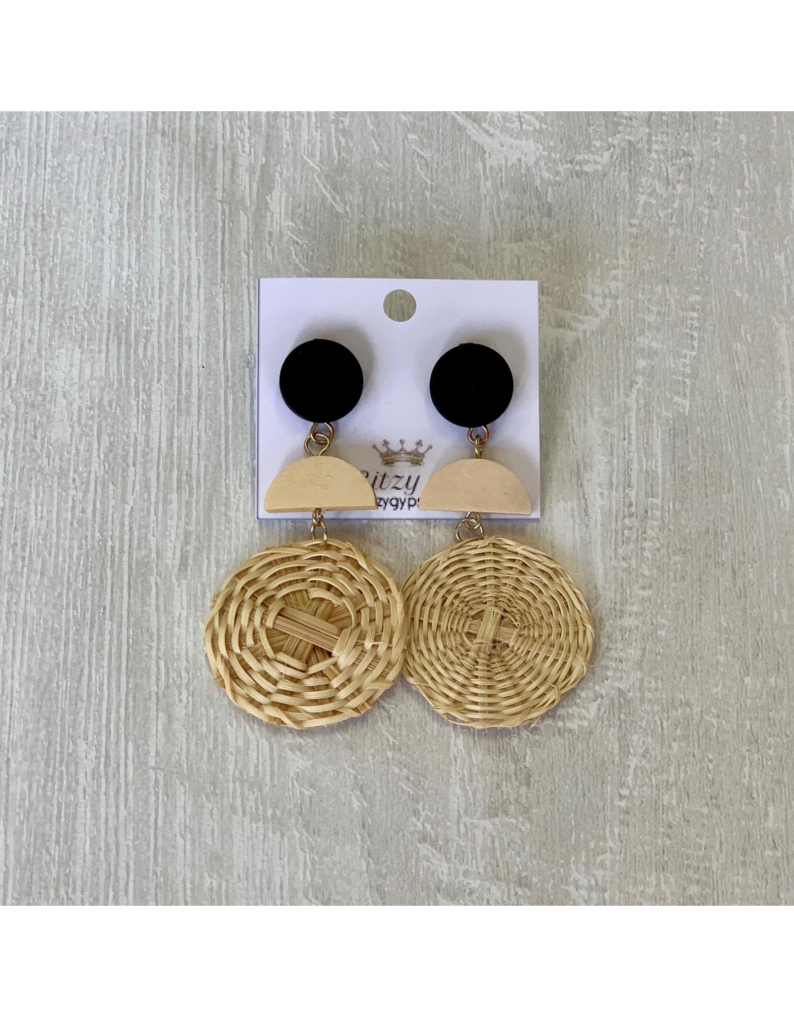 Funteze Accessories Simplicity Woven Earrings