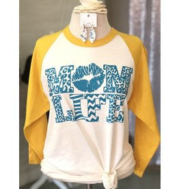 TSC Apparel MOM LIFE Baseball Tee