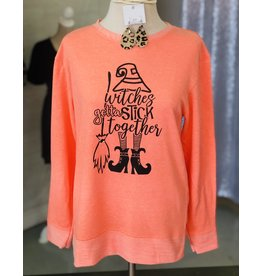 TSC Apparel WITCHES STICK TOGETHER Melange Sweatshirt