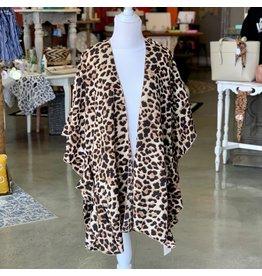 LEO Leopard Kimono O/S