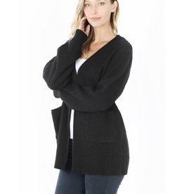 fashiongo CABIN FEVER Black Open Sweater