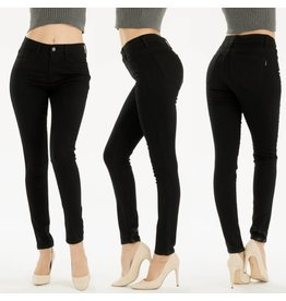 fashiongo CARRIE Black Skinny Jeans