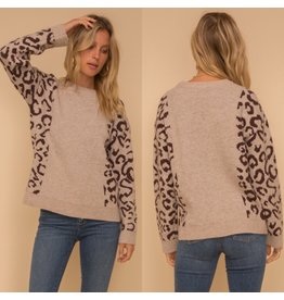 SOPHIA Taupe leopard Pullover
