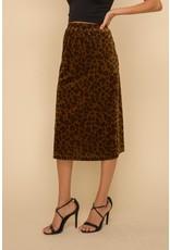 Hem and Thread MIA Leopard Long Skirt