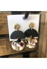 MARLI Black and Multi-Color Earrings