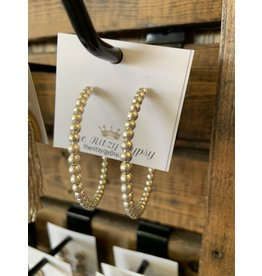 SALLY Silver Beaded Hoops